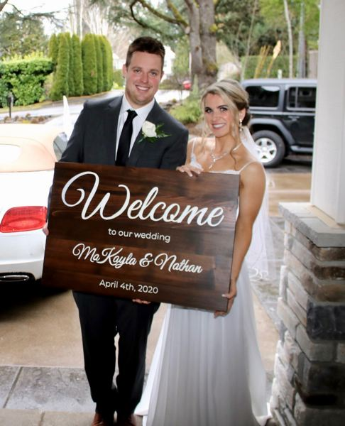 COURTESY PHOTO: SHERRY MICHENER - Despite obstacles from the novel coronavirus, Nathan Smith and MaKayla Michener tied the knot Saturday, April 4.