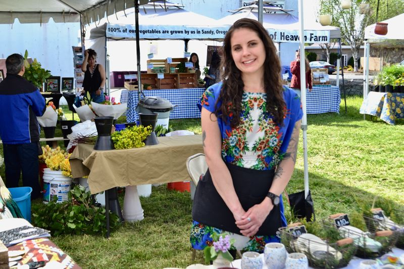 PMG FILE PHOTO: BRITTANY ALLEN  - Carolanne Platt was (and hopefully will be again) the manager of the Mount Hood Farmers Market, but since being laid off has focused more into her ceramics business.