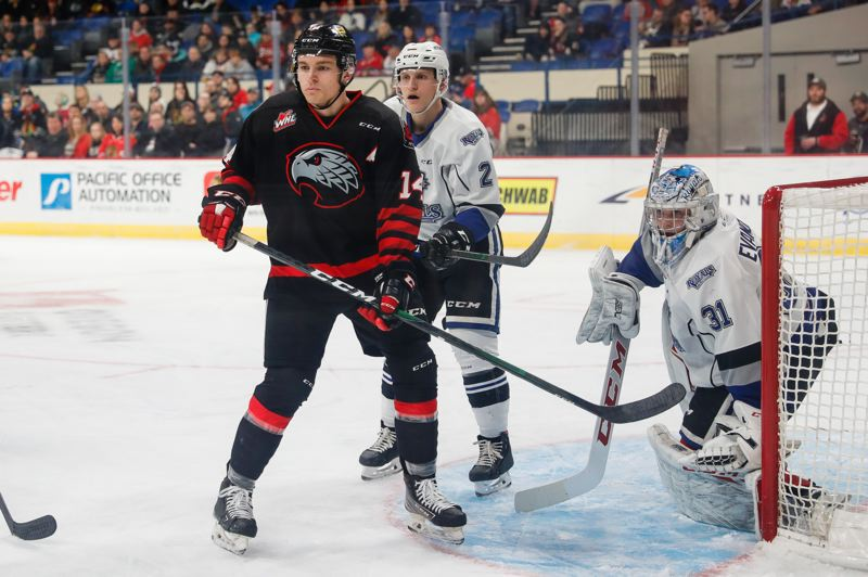 COURTESY PHOTO/KEITH DWIGGINS/PORTLAND WINTERHAWKS - Jake Gricius is the WHL's Western Conference Humanitarian of the Year is up for the league's overall award.
