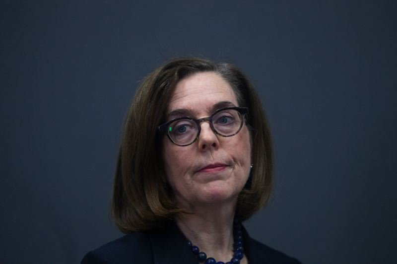 POOL PHOTO: BETH NAKAMURA/OREGONIAN - Gov. Kate Brown said Wednesday, April 8, that Oregon's schools would continue to stay closed through the end of the academic year. She also cleared the way for seniors to graduate, but probably without the annual ceremony.