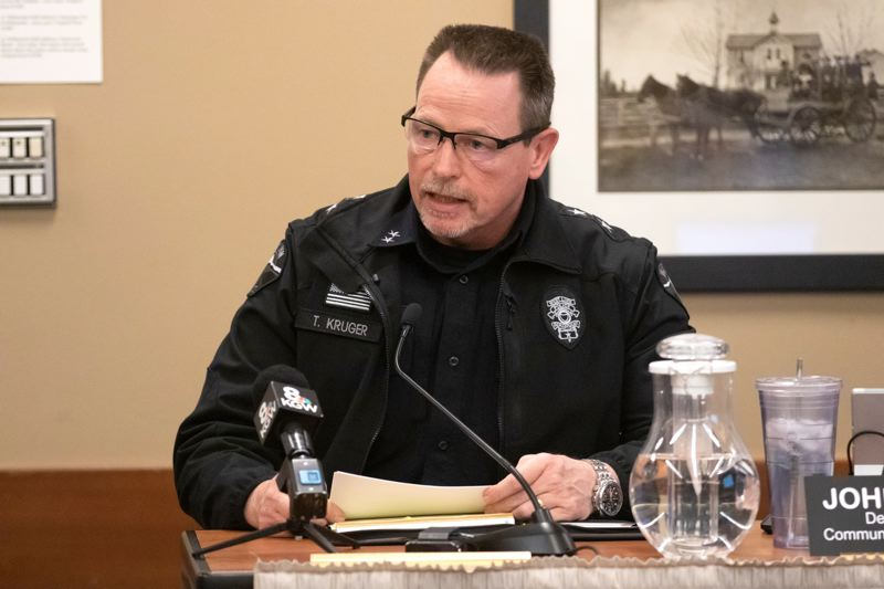 PMG PHOTO: JONATHAN HOUSE - West Linn Police Chief Terry Kruger was placed on administrative leave as the city of West Linn conducts an independent investigation of its handling of the Michael Fesser case.