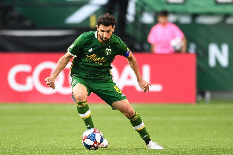 PMG PHOTO: CHRISTOPHER OERTELL - Diego Valeri is trying to make the best of time at home in Portland while the Timbers season is on hold during the COVID-19 pandemic.