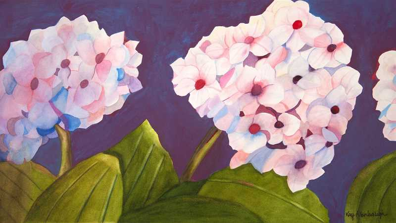 Kay Allenbaugh's watercolors would have been exhibited at the Lake Area Artists Show. You can view them online at lakeareaartists.com.