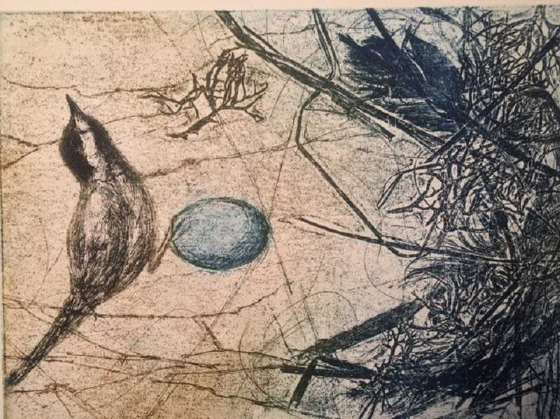 Jani Hoberg's etchings and watercolors were included in the Lake Area Artists show. You can view and purchase her art online at lakeareaartists.com.