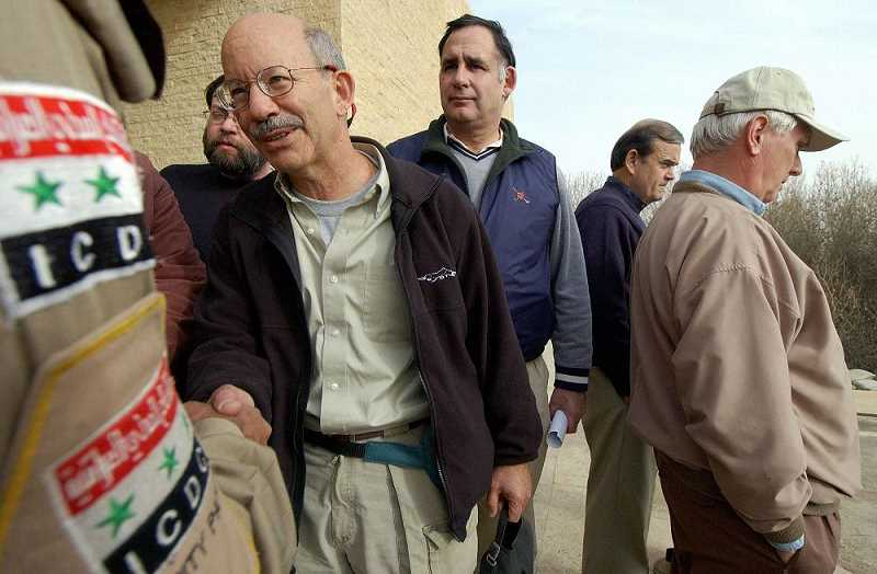 Congressman Peter DeFazio, Democrat of Springfield, seen here in 2004 with a congressional delegation visitng Tikrit, Iraq. He is the powerful chairman of the House Committee on Transportation and Infrastructure.