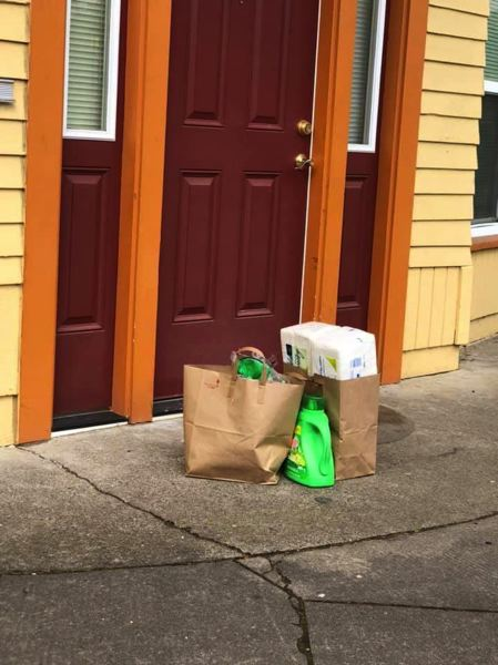 COURTESY PHOTO: EVERY CHILD - Donated groceries are dropped off to foster familes who can't travel.