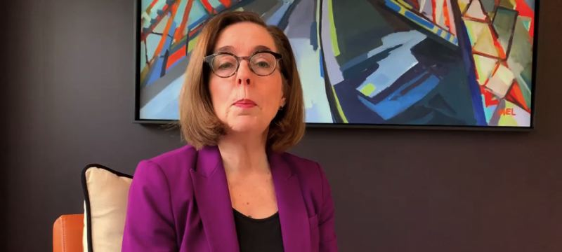 SCREENSHOT - Gov. Kate Brown's stay-at-home order has fueled a surge of complaints of unsafe workplaces. More than 2,700 of them claim their employers are not using safe practices or are violating Brown's order.