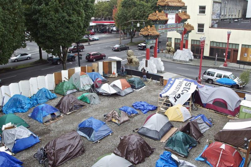 PMG FILE PHOTO - The original Right 2 Dream Too shelter is an early example of an unofficial organized homeless camp in Portland.