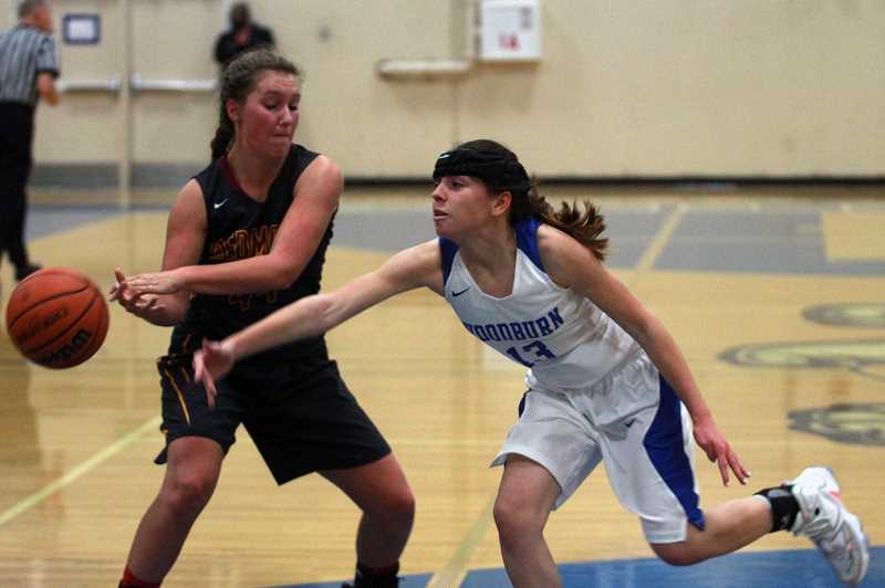 PMG FILE PHOTO: PHIL HAWKINS - As a freshman, Taiya Kent earned Honorable Mention honors in the 5A Mid-Willamette All-Conference awards. She garnered Honorable Mention consideration again as a senior in the 4A Oregon West Conference.
