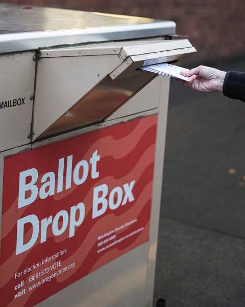 PMG FILE PHOTO - Oregon's vote-by-mail system is reliable, trackable and provides a more healthy way to vote during a time of social distancing.
