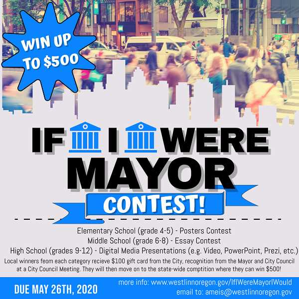 COURTESY PHOTO - Students between fourth grade and high school are invited to enter the contest.