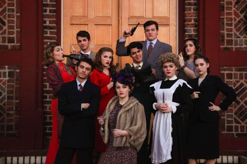 COURTESY PHOTO: BARLOW HIGH SCHOOL - Actors from Barlow High School prepare for their performance of 'The Musical Comedy Murders of 1940' earlier this year.