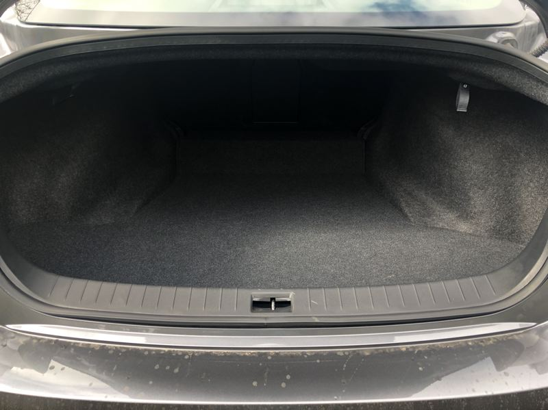 PMG PHOTO: JEFF ZURSCHMEIDE - The trunk is large enough for weekend getaways and occasional longer trips.