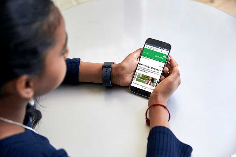 COURTESY PHOTO - In late March, Girl Scouts of the USA launched Girl Scouts at Home, a national online platform with free self-guided activities for girls.