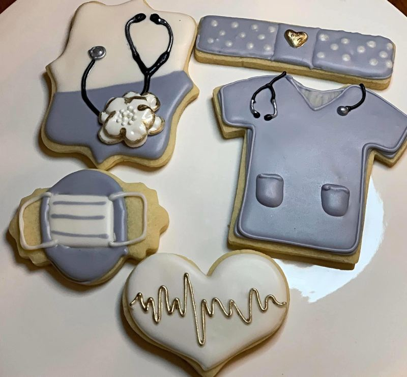 COURTESY PHOTO - These cookies were created for folks working in health care during this pandemic.