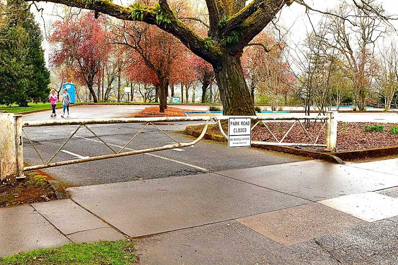 DAVID F. ASHTON - Although many parking lot gates and access roads are closed, neighborhood PP&R parks are still open to nearby residents who practice social distancing.