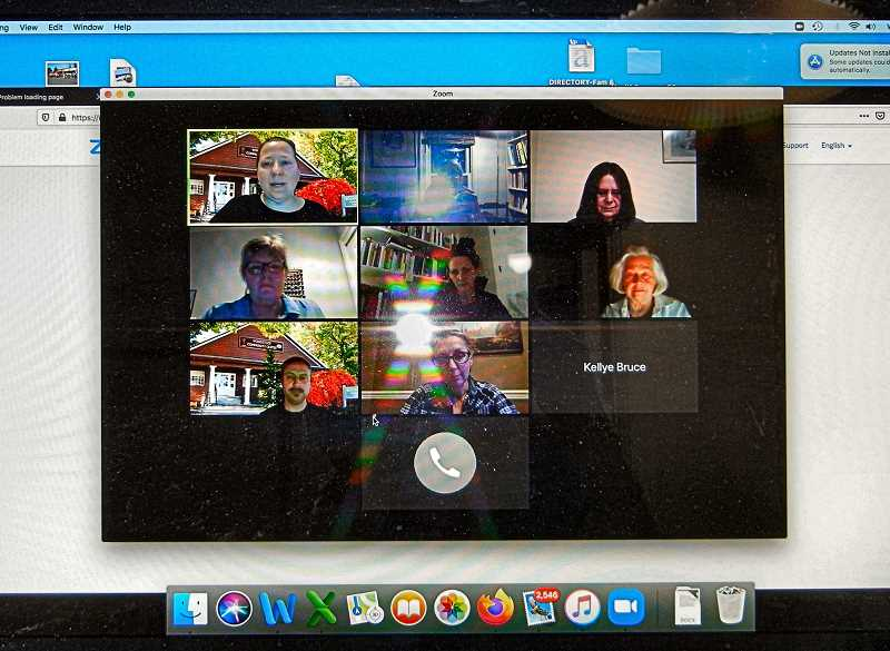 ELIZABETH USSHER GROFF - The Woodstock Neighborhood Association held its first virtual meeting on April Fools Day, but there was no pranking - just people helping each other online to achieve both audio and video connection.