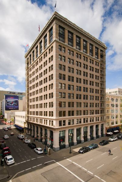 COURTESY: COLLIERS INTERNATIONAL - Commercial real estate transactions are likely to be impacted by the COVID-19 pandemic for months to come. Colliers International handles both office leasing and property management the Spalding Building, 319 S.W. Washington St., in Portland.