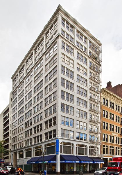 COURTESY: COLLIERS INTERNATIONAL - Commercial real estate transactions are likely to be impacted by the COVID-19 pandemic for months to come. Colliers International handles both office leasing and property management the Loyalty Building, 317 S.W. Alder St., in Portland.
