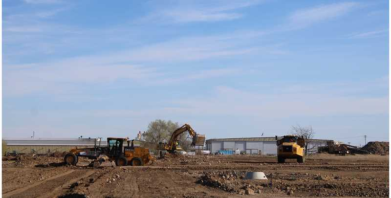 JENNIFFER GRANT/MADRAS PIONEER - Site preparation is ongoing at the Willow Brook subdivision on the site of the former Nine Peaks Golf Course.