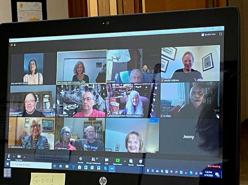 COURTESY PHOTO - The LOACC respite for caregivers program is still going — meetings are held on Zoom.