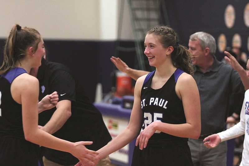 PMG PHOTO: PHIL HAWKINS - St. Paul senior Erin Counts earned a three-way share of the 2020 1A Girls Basketball Player of the Year award in April.