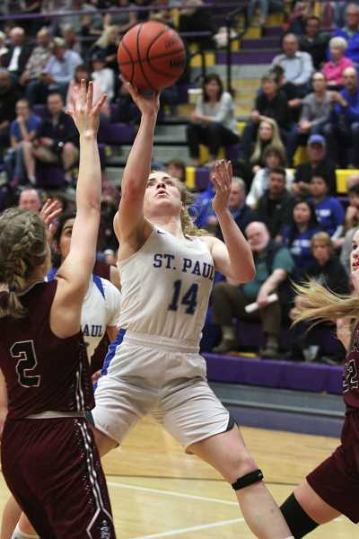PMG PHOTO: PHIL HAWKINS - St. Paul senior Isabelle Wyss was named to the All-State First Team, one year removed from being named 2019 1A Player of the Year.