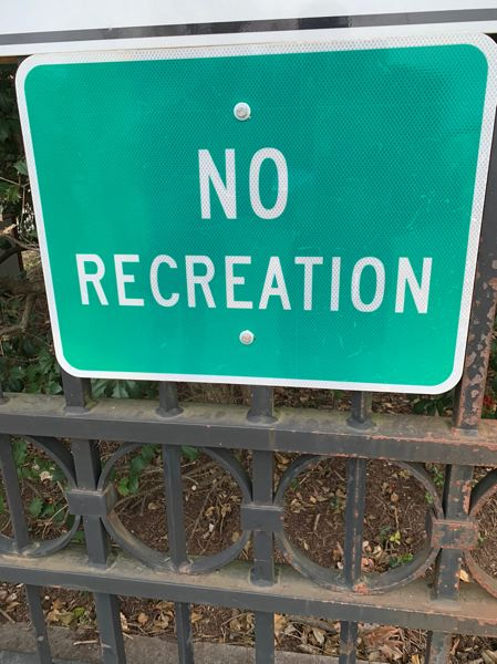 COURTESY PHOTO: LUKE OVGARD - Though the author saw this sign in Washington, D.C., the Pacific Northwest has been hit particularly hard with restrictions on fishing and other outdoor recreational pursuits.