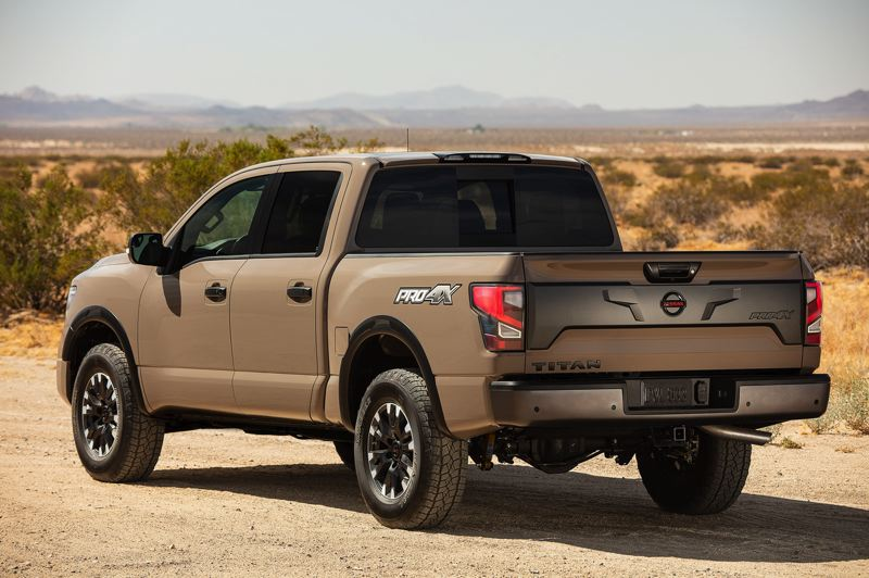 COURTESY NISSAN - The Pro-X package turns the 2020 Nissan Titan into a serious off-road truck.