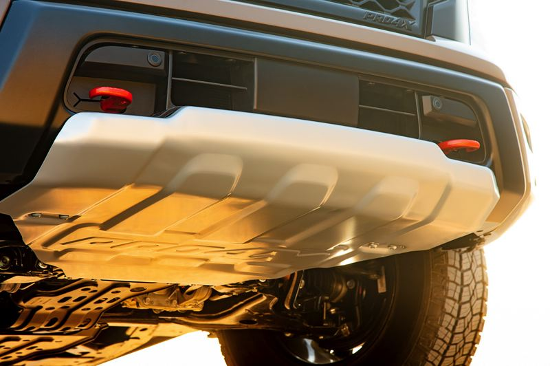 UCORTESY NISSAN - The 2020 Nissan Titan Pro-X is equipped with serious off-road equipment, liek this front skid plate.