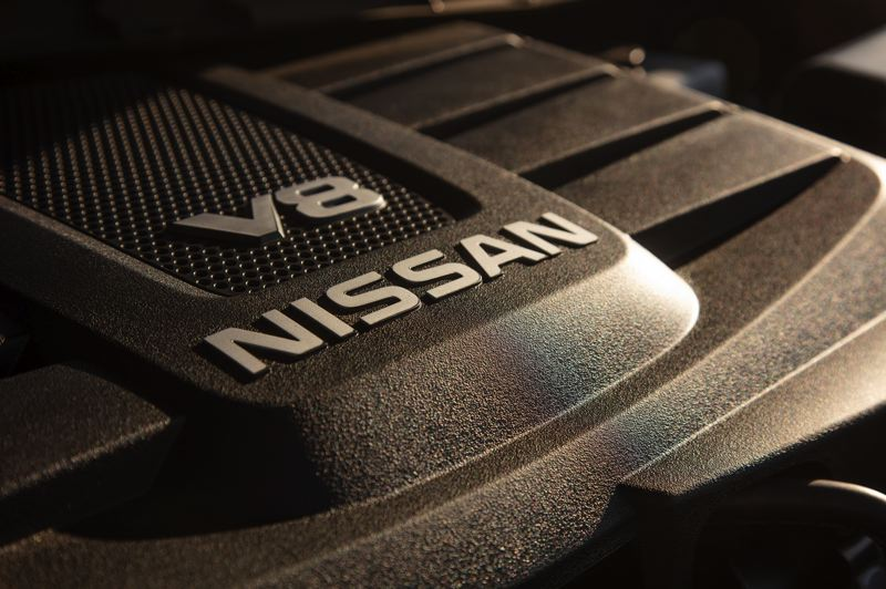 COURTESY NISSAN - A 5.6-liter V8 is the only engine available in the 2020 Nissan Tital, but it produces 400 horsepwoer and 413 foot-pounds of torque.