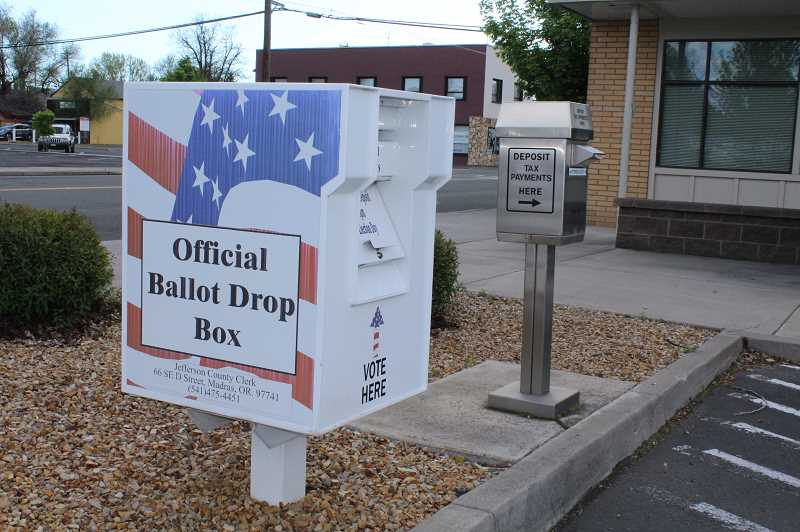 HOLLY GILL/MADRAS PIONEER - Voter registrations are due Tuesday, April 28.