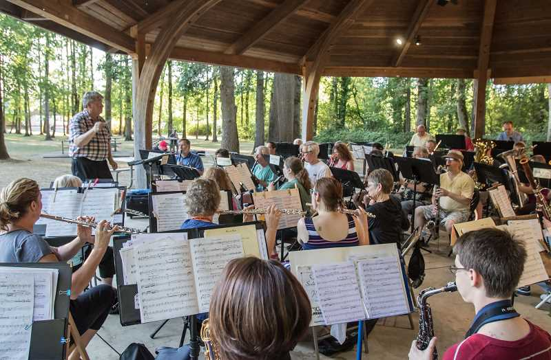 PMG FILE PHOTO - The Tualatin Valley Community Band is an all volunteer band that performs four or five times each year.