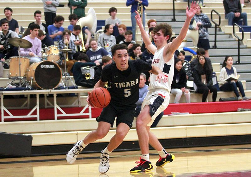 PMG PHOTO: MILES VANCE - Tigard junior Drew Carter won a berth on the Class 6A all-state first team after earlier being named Three Rivers League Player of the Year.