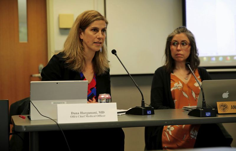COURTESY PHOTO: OREGON PUBLIC BROADCASTING - Dr. Dana Hargunani, left, chief medical officer of the Oregon Health Authority, is a member of Gov. Kate Brown's COVID-19 Medical Advisory Panel.