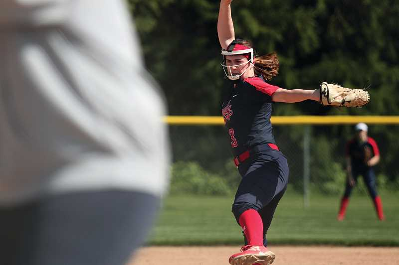PMG FILE PHOTO: PHIL HAWKINS - In her first year as a starter, then-junior Grace Schaecher helped guide the Kennedy softball team to a second straight trip to the 2A/1A finals in 2019.