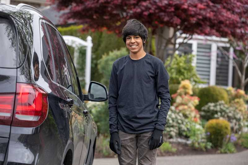 PMG PHOTO: JONATHAN HOUSE - 16-year-old Neel Jain organized a project called PDX Concierge. The service is run by Jain and his father to provide a free grocery delivery service to the most at-risk groups for complications from COVID-19.