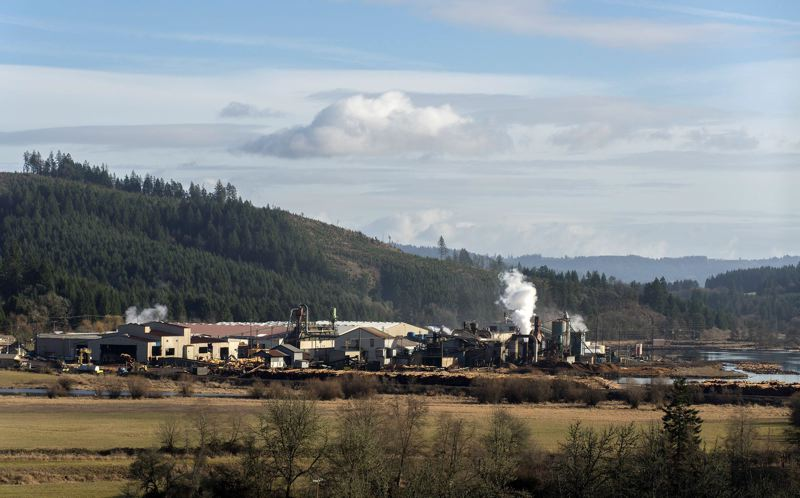 PMG FILE PHOTO: - Stimson Lumber Company's wood products facility in Gaston.
