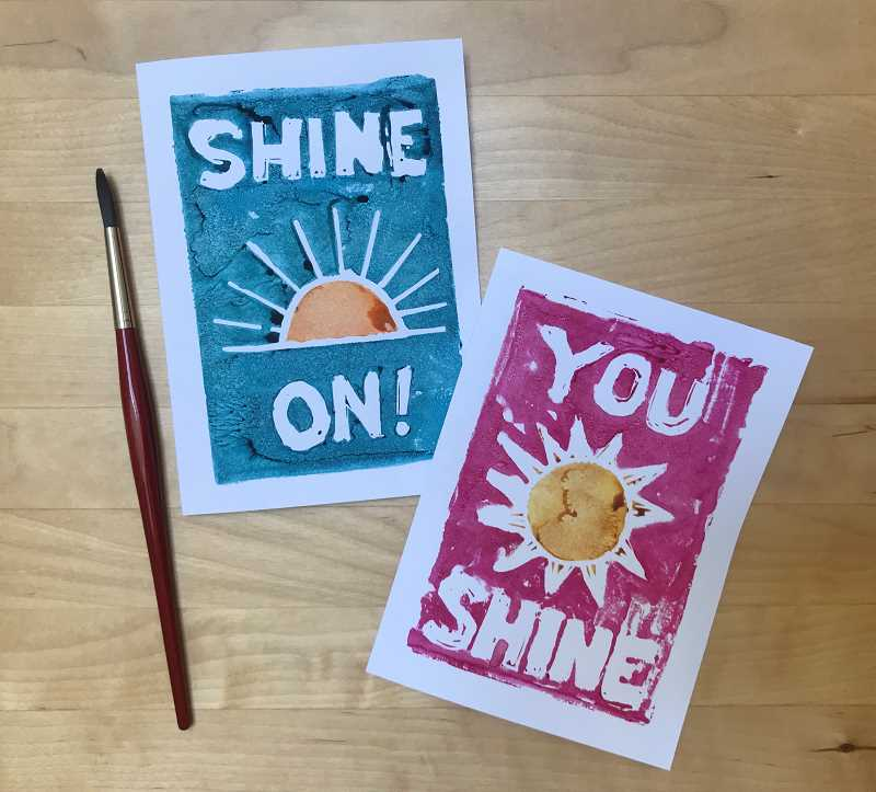 COURTESY PHOTO - Local artist Elizabeth Higgins created handmade watercolor Shine On cards for emergency room and critical care workers coming off shift.