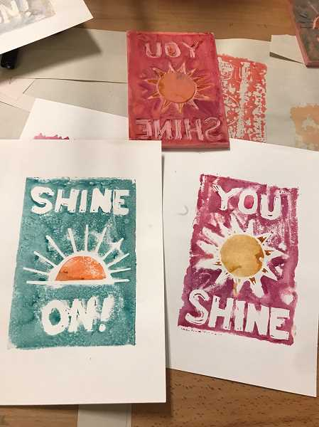 COURTESY PHOTO - People can purchase the Shine On cards from Higgins Etsy shop. They can then mail the cards directly to hospital workers in Hillsboro.