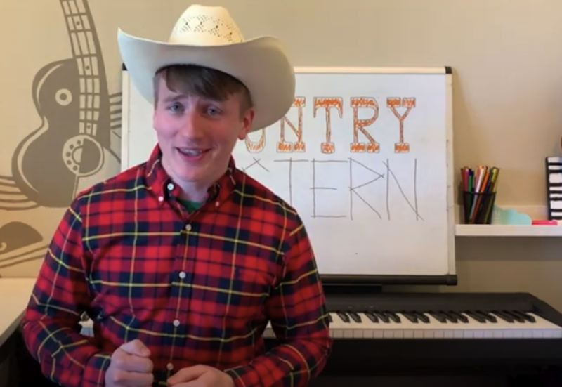 COURTESY PHOTO - River Mill Elementary School teacher Daniel Czyzewicz teaches students about country western music through the Estacada School District's virtual school program.