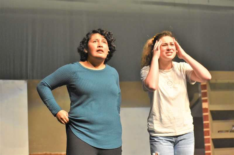 PMG FILE PHOTO - Estacada theater students Ayla Zallee and Irelynd O'Neill  had lead roles in last fall's production of 'Freaky Friday.'