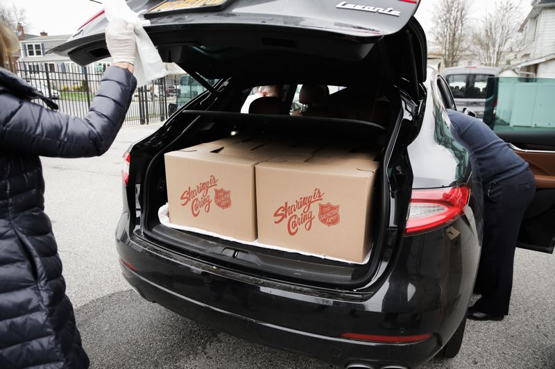 COURTESY PHOTO: SALVATION ARMY PORTLAND - The Salvation Army Portland has formed a new program to pass out 1,500 food boxes a week.