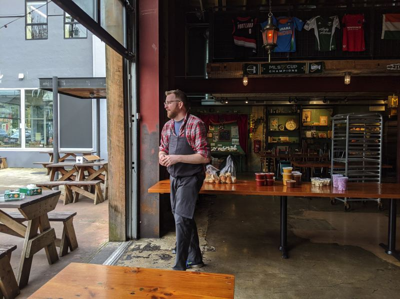 PMG PHOTO: COURTNEY VAUGHN - Restaurants like Bollywood Theater on Southeast Division Street in Portland could re-open with safety guidelines under a draft proposal released Thursday by the governor's office.