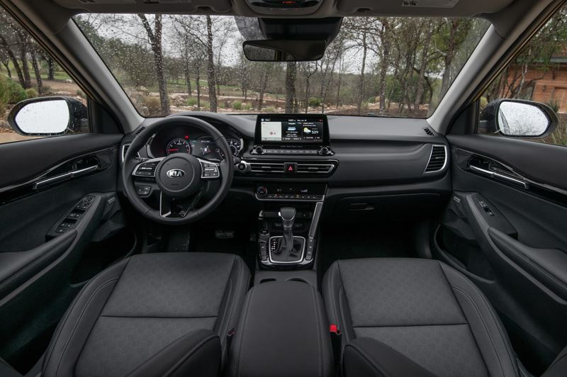 COURTESY KIA MOTORS AMERICA - The interior of the 2021 Kia Seltos is very room and can be outfitted to near luxury levels.
