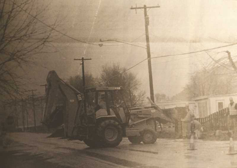 CENTRAL OREGONIAN - May 4, 1995 – Working conditions haven't been the best for crews laying water lines from the new high school site to Main Street on Lynn Boulevard during the past few days – rain is expected to fall through the weekend.