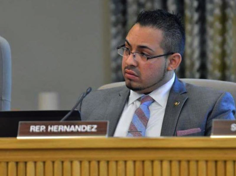 PMG FILE PHOTO - State Rep. Diego Hernadez during a 2019 legislative committee hearing.