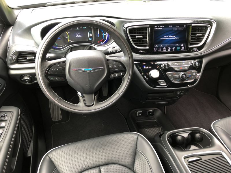 PMG PHOTO: JEFF ZURSCHMEIDE - The 2020 Chrysler Pacifica Hybrid comes with a long list of advanced standard features and luxury touches.