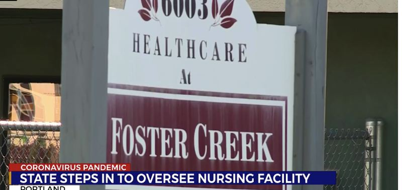 KOIN.COM - The state has suspended the license of Healthcare at Foster Creek, a nursing home whose residentds have constituted about a fifth of all COVID-19 deaths in Oregon.