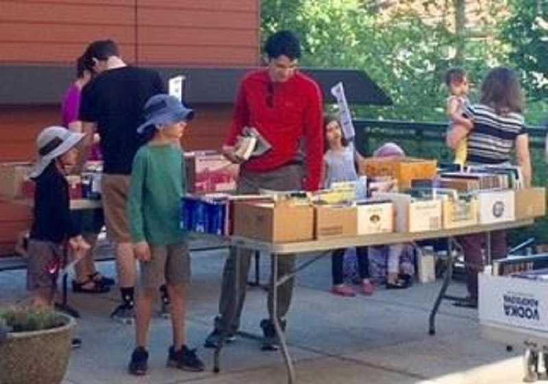 PMG PHOTO - The annual Hillsdale Book Sale held in late July is the major fundraiser for the Hillsdale Community Foundation, raising as much as $6,000 annually.